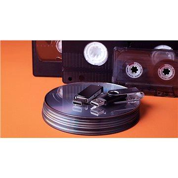 Převod kazety VHS / VHS-C / miniDV / 8 / Hi8 / D8 na DVD - 120 min