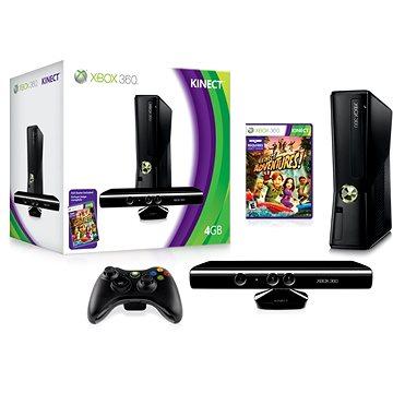 Pronájem herní konzole XBox360 + pohybový senzor Kinect včetně 2 her