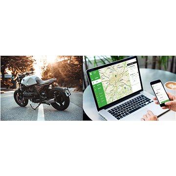 Služba GPS zabezpečení motorky s poplachy na Váš mobil na 3 měsíce