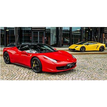 10 minut (10 km) řízení Ferrari 488 GTB nebo Lamborghini Gallardo