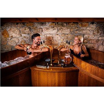 Spa Beerland Praha – pivní lázeň, s neomezenou konzumací piva, pro 2 osoby ve 2 kádích (RADOST0000113)