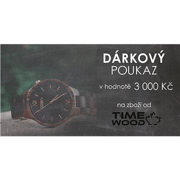 Dárkový poukaz v hodnotě 3 000 Kč na dřevěné hodinky, brýle a doplňky značky TimeWood (RADOST000021P)
