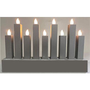 RETLUX RXL 374 svícen stříbrný 9LED WW (RXL 374)