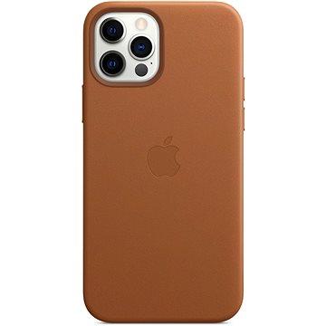Apple iPhone 12 a 12 Pro Kožený kryt s MagSafe sedlově hnědý (MHKF3ZM/A)