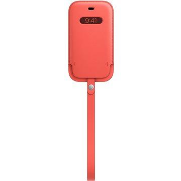 Apple iPhone 12 mini Kožený návlek s MagSafe citrusově růžový (MHMN3ZM/A)