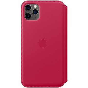 Apple iPhone 11 Pro Max kožené pouzdro Folio malinové (MY1N2ZM/A)