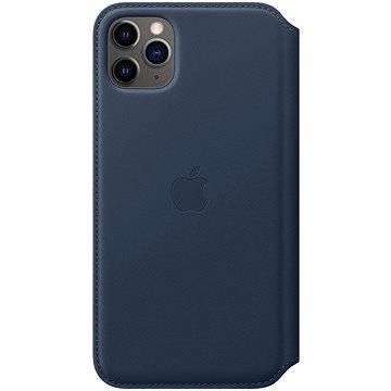 Apple iPhone 11 Pro Max kožené pouzdro Folio hlubinně modré (MY1P2ZM/A)