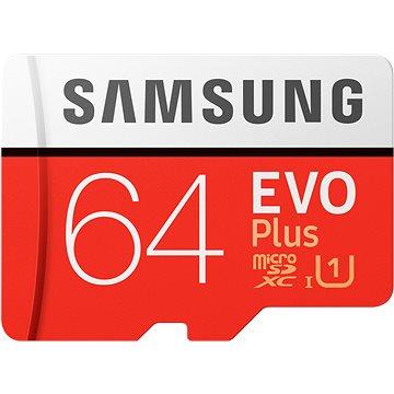 Samsung MicroSDXC 64GB EVO Plus + SD adaptér (MB-MC64HA/EU)