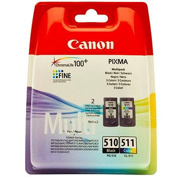 Canon PG-510 + CL-511 multipack černá, barevná (2970B010)