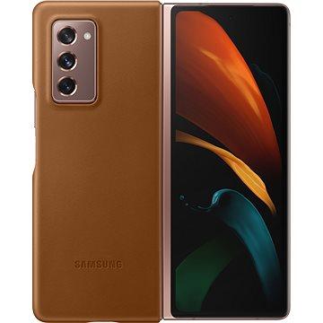 Samsung Kožený zadní kryt pro Galaxy Fold2 hnědý (EF-VF916LAEGEU)