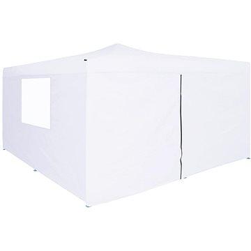 Skládací altán se 4 bočnicemi 5 x 5 m bílý (48912)