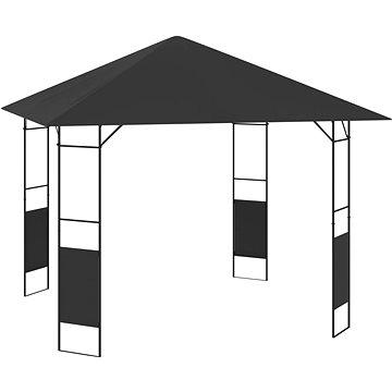 Zahradní altán 3 x 3 m antracitový 160 g/m2 (47827)