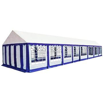 Zahradní altán PVC 6 x 16 m modro-bílý (274961)