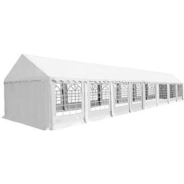 Zahradní altán, PVC, 6x16 m, bílý (274976)