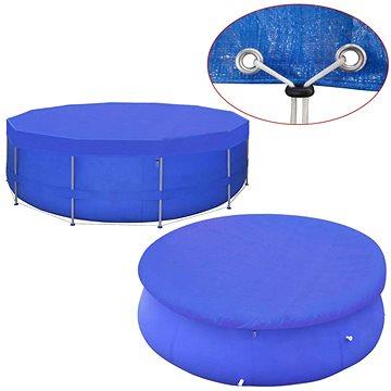 Kryt na bazén PE kulatý 460 cm 90 g/m2 (91151)