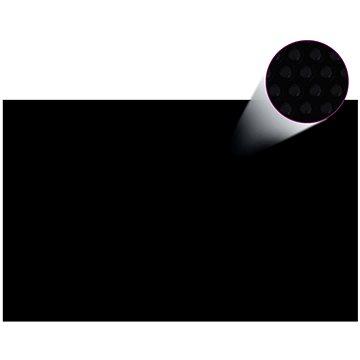 Čtvercový černý bazénový kryt 8x5m (90341)