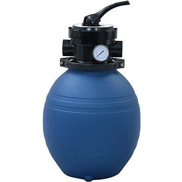 Bazénová písková filtrace s 4polohovým ventilem modrá 300 mm (92246)