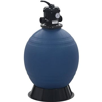 Bazénová písková filtrace se 6polohovým ventilem modrá 560 mm (91727)