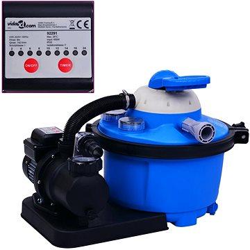 Pískové filtrační čerpadlo s časovačem 450 W 25 l (92291)