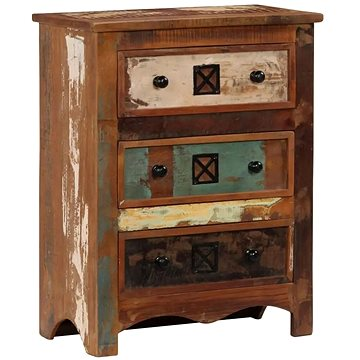 Komoda se zásuvkami 60 x 30 x 75 cm masivní recyklované dřevo (247575)