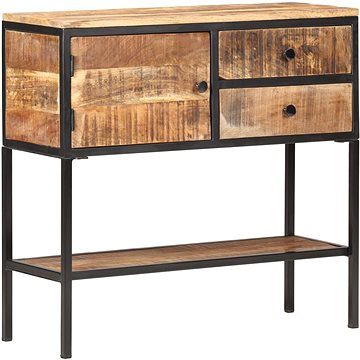 Příborník 85 x 30 x 80 cm hrubé mangovníkové dřevo (320486)