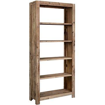 Knihovna 80 x 30 x 170 cm masivní akáciové dřevo (288242)
