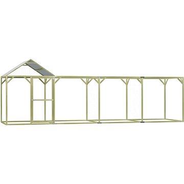 Klec pro kuřata 6 x 1,5 x 2 m impregnovaná borovice (278402)