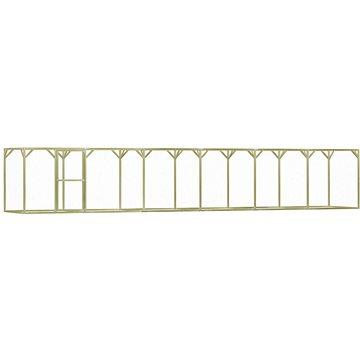 Klec pro kuřata 1,5 x 9 x 1,5 m impregnovaná borovice (278406)