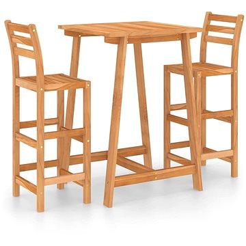 3dílný zahradní barový set masivní akáciové dřevo 3057848