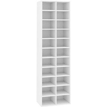 Botník bílý 54×34×183 cm dřevotříska 800369 (800369)
