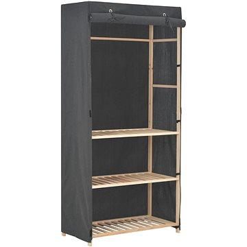3úrovňová šatní skříň šedá 79 × 40 × 170 cm látka