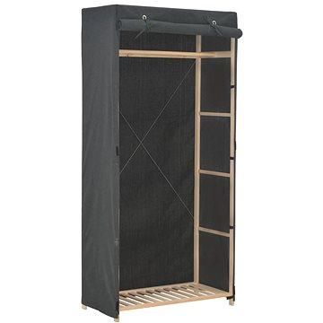 Šatní skříň šedá 79 × 40 × 170 cm textil