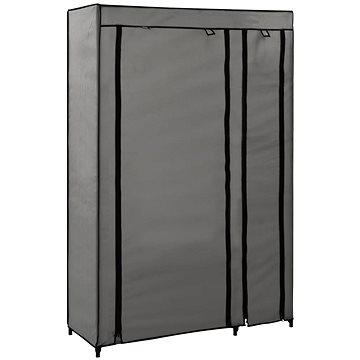 Skládací šatní skříň šedá 110 × 45 × 175 cm textil