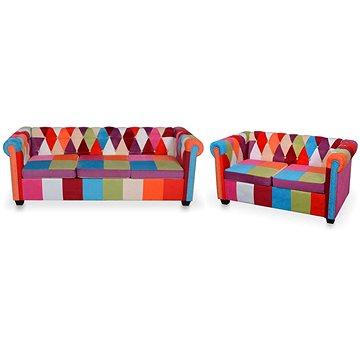 2dílný set chesterfield pohovka textil (278215)