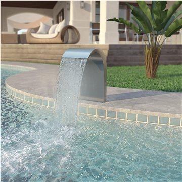 Bazénová fontána, nerezová ocel, 45x30x65 cm, stříbrná (43692)