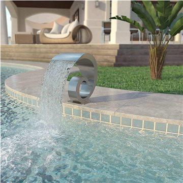 Bazénová fontána, nerezová ocel, 50x30x53 cm, stříbrná (43693)