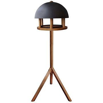 Esschert Design Krmítko pro ptáky kulatá ocelová stříška FB429 (422490)