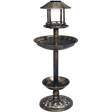 Dekorativní pítko pro ptáčky se solárními LED světly plast (48221)