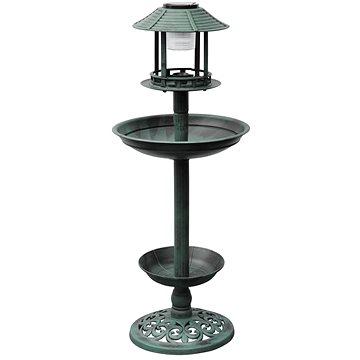 Krmítko a koupel pro ptáky se solárním osvětlením (40537)