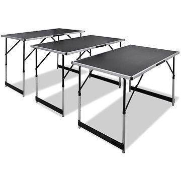Tapetovací stůl 3 ks skládací výškově nastavitelný