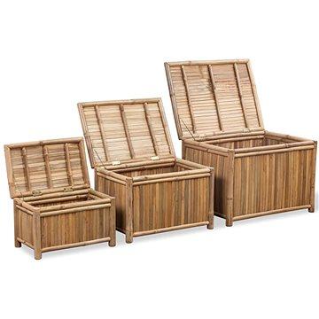 Úložné boxy 3 ks bambus (242495)