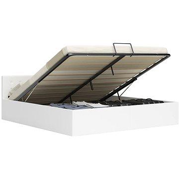 Rám postele s úložným prostorem bílý umělá kůže 160x200 cm (285520)