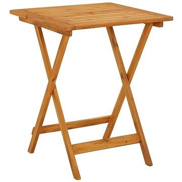 Skládací zahradní stolek 60 x 60 x 75 cm masivní akáciové dřevo (313595)