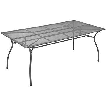 Zahradní stůl antracitový 170 x 89,5 x 72,5 cm ocelové pletivo (46631)