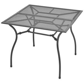 Zahradní stůl 90 x 90 x 72 cm ocelové pletivo (42722)