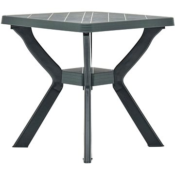 Bistro stolek zelený 70 x 70 x 72 cm plast (48800)