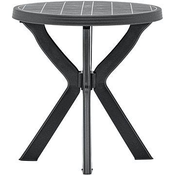 Bistro stolek antracitový O 70 cm plast (48798)