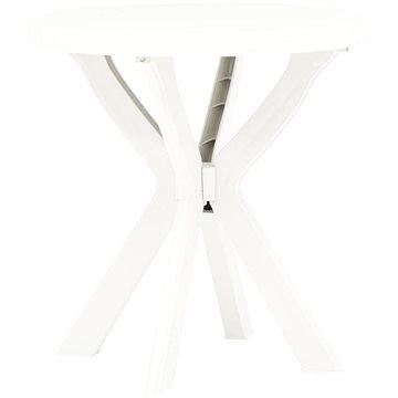 Bistro stolek bílý O 70 cm plast (48796)