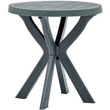 Bistro stolek zelený O 70 cm plast (48797)