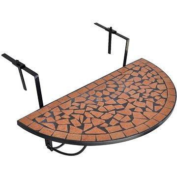 Závěsný stolek na balkon terracotta mozaika (41123)